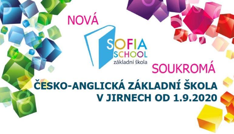 SOFIASCHOOL - soukromá česko-anglická základní škola v Jirnech